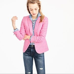 J. Crew Campbell Pink Linen Blazer